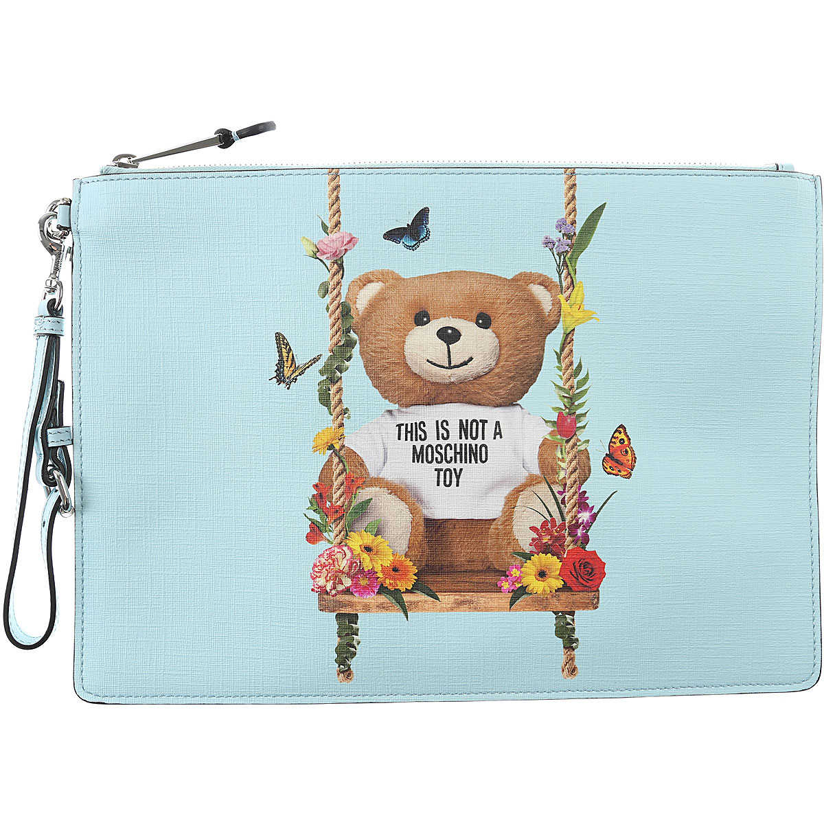 Moschino Women's Pouch in Outlet celeste USA - GOOFASH