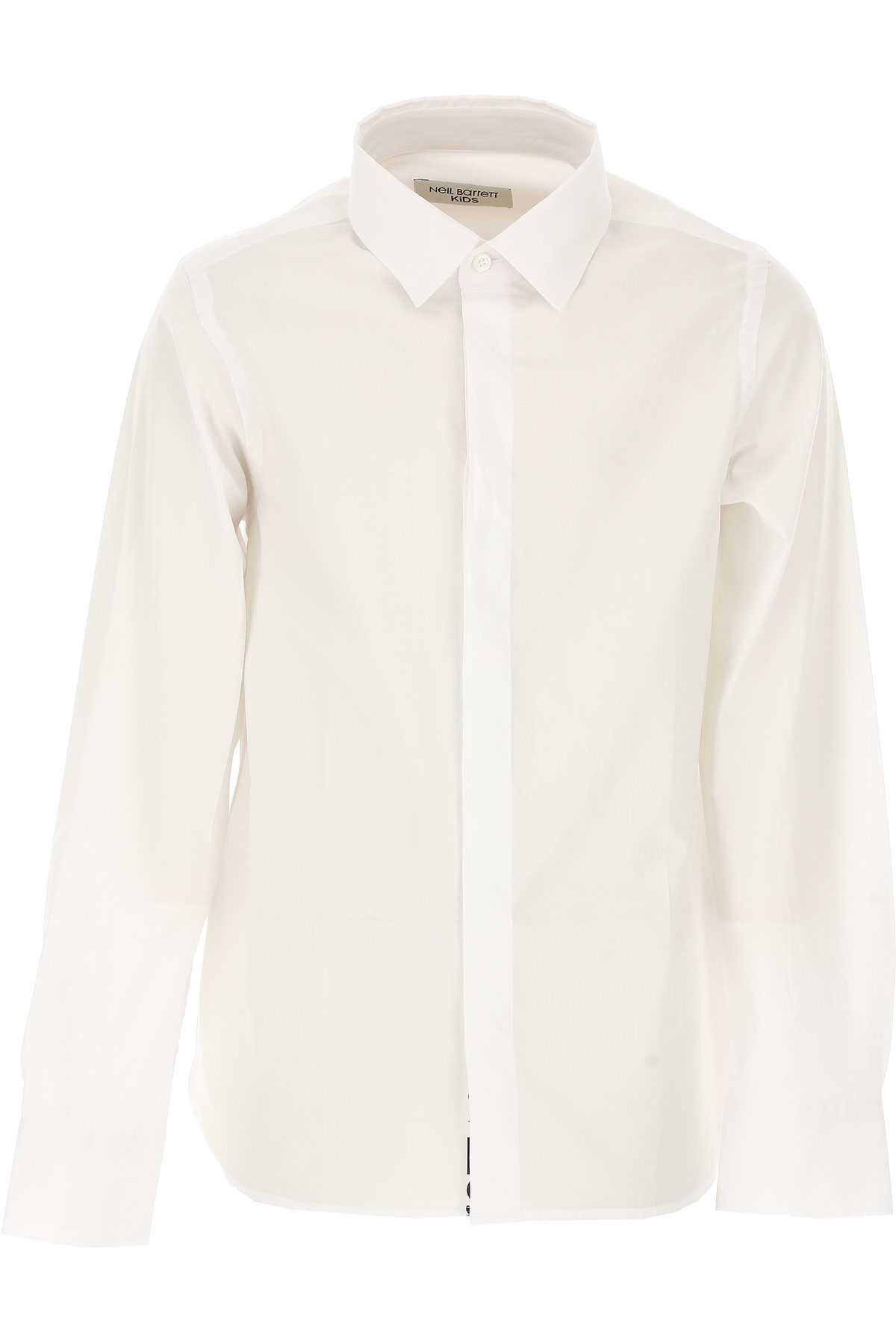Neil Barrett Kids Shirts for Boys On Sale White SE - GOOFASH
