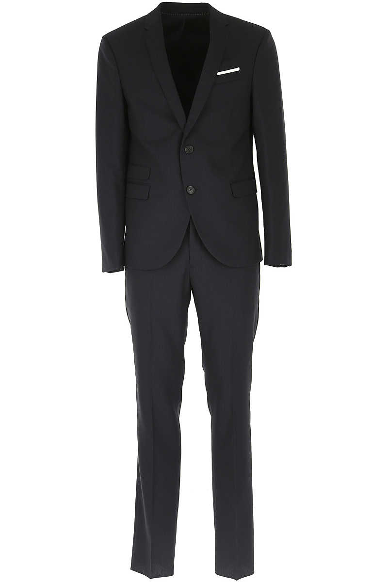 Neil Barrett Men's Suit On Sale in Outlet Blue SE - GOOFASH