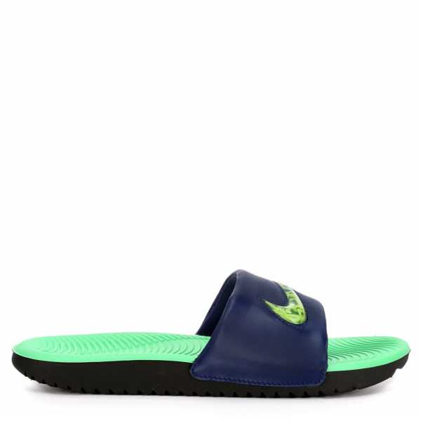 Nike Boys Kawa Se Slides Sandals Blue USA - GOOFASH