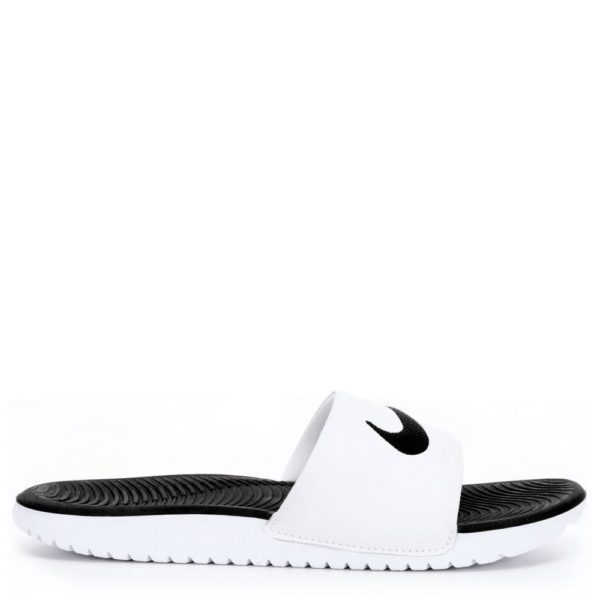 Nike Boys Kawa Slide Slides Sandals White USA - GOOFASH