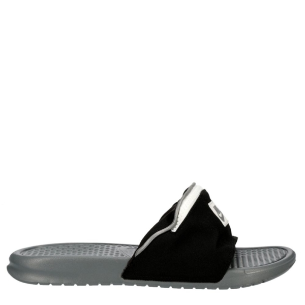Nike Mens Benassi JDI Fanny-Pack Slides Sandals Black USA - GOOFASH - Mens SANDALS