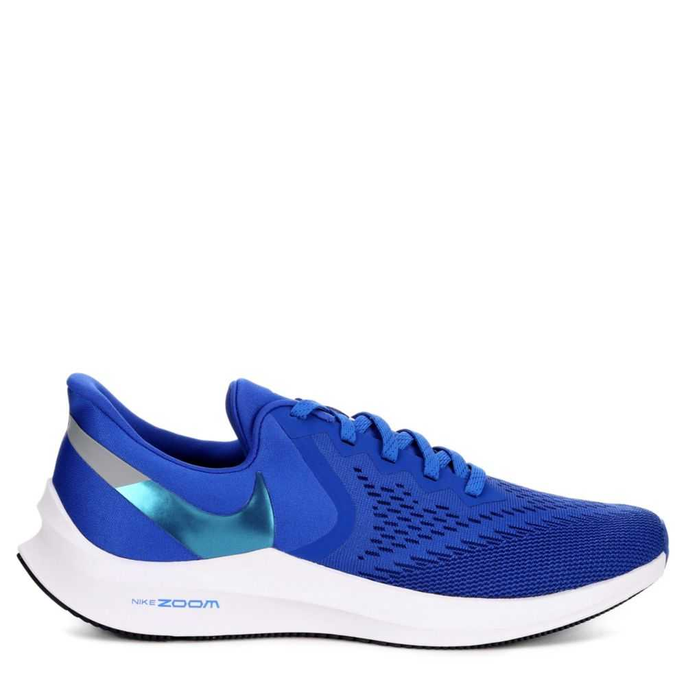 Nike Mens Zoom Winflo 6 Running Sneakers  Blue USA - GOOFASH