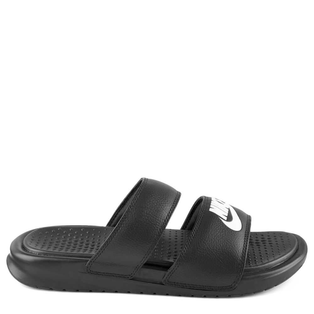 Nike Womens Benassi Duo Ultra Slide Slides Sandals Black USA - GOOFASH