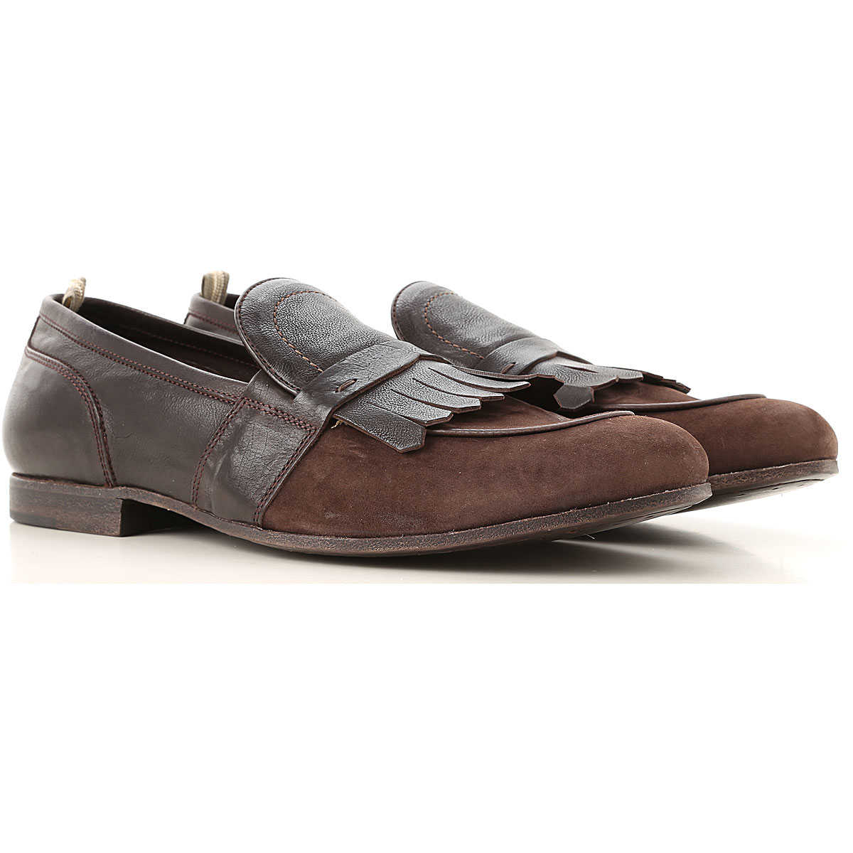 Officine Creative Loafers for Men Chocolate USA - GOOFASH