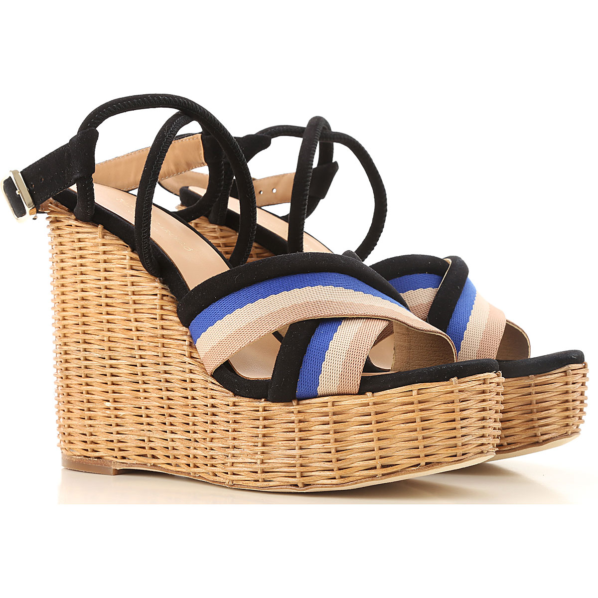 Paloma Barcelo Wedges for Women Black USA - GOOFASH