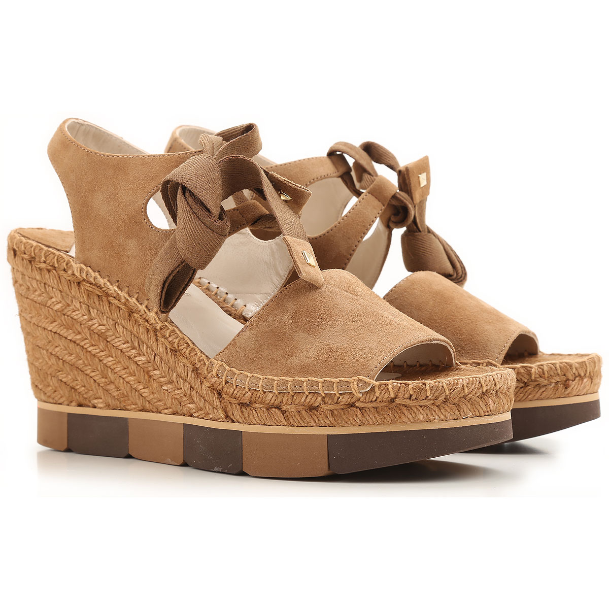 Paloma Barcelo Wedges for Women Taupe USA - GOOFASH