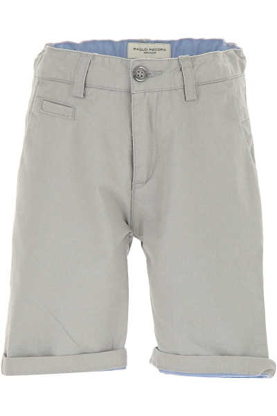 Paolo Pecora Kids Shorts for Boys On Sale in Outlet Beige SE - GOOFASH