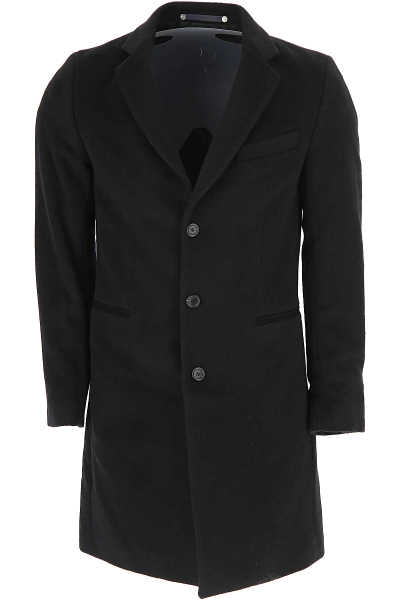 Paul Smith Men's Coat Black USA - GOOFASH