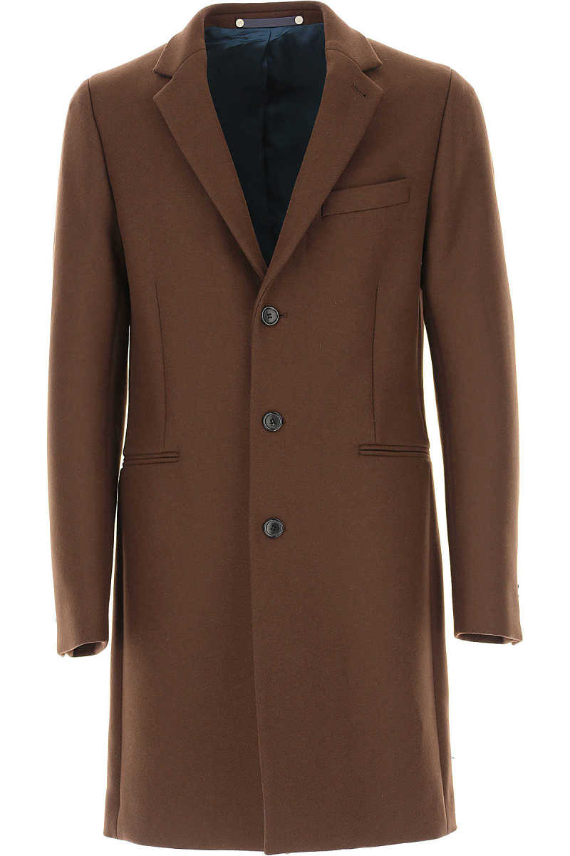 Paul Smith Men's Coat Chocolate Brown USA - GOOFASH