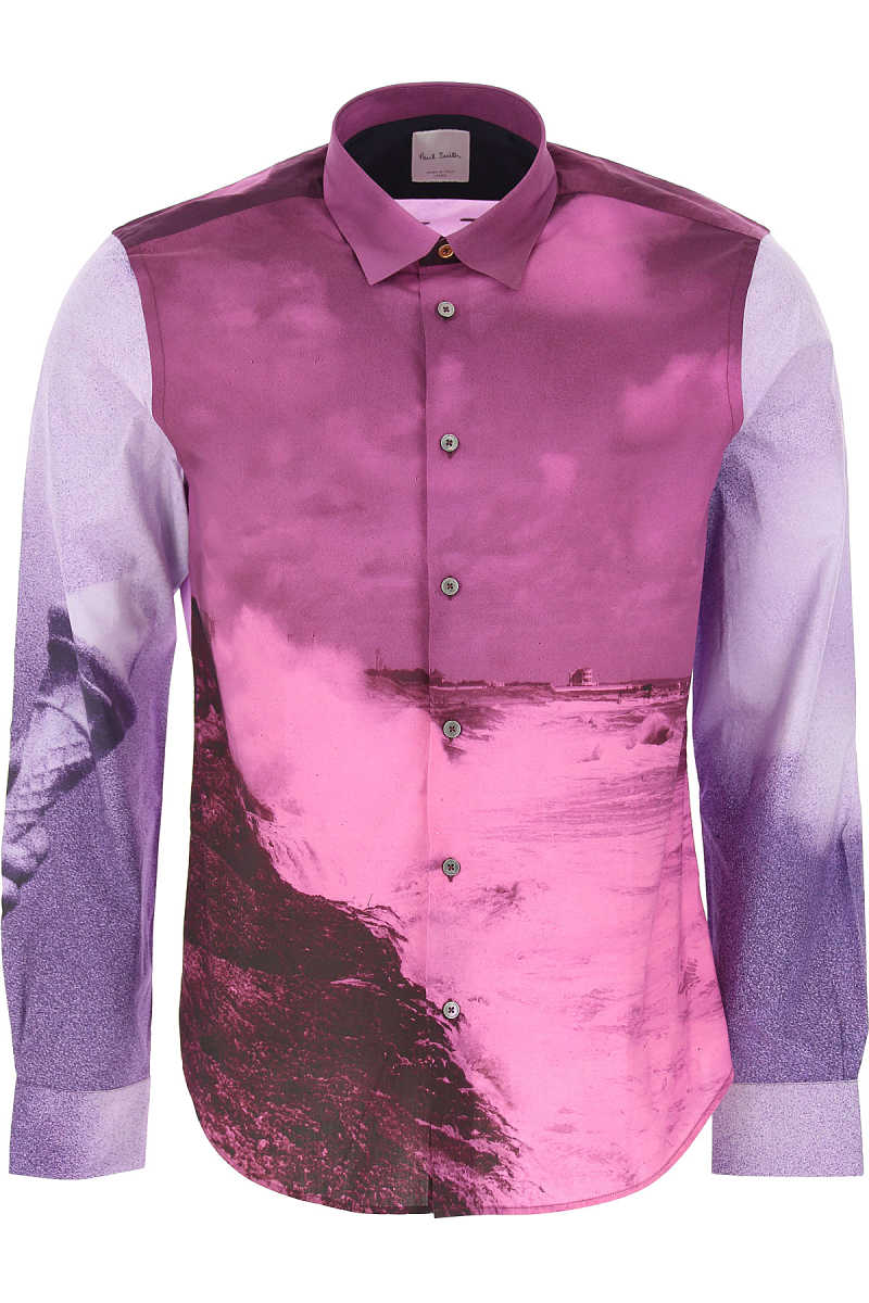 Paul Smith Shirt for Men On Sale Purple SE - GOOFASH