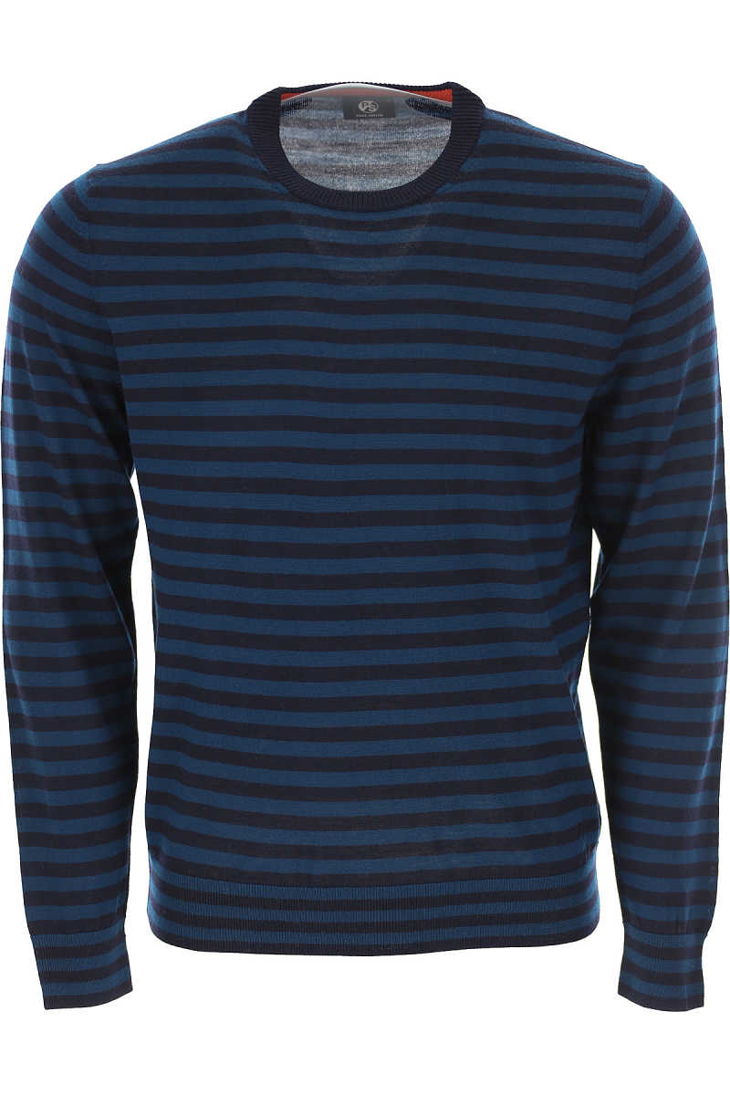Paul Smith Sweater for Men Jumper On Sale in Outlet Blue Navy SE - GOOFASH
