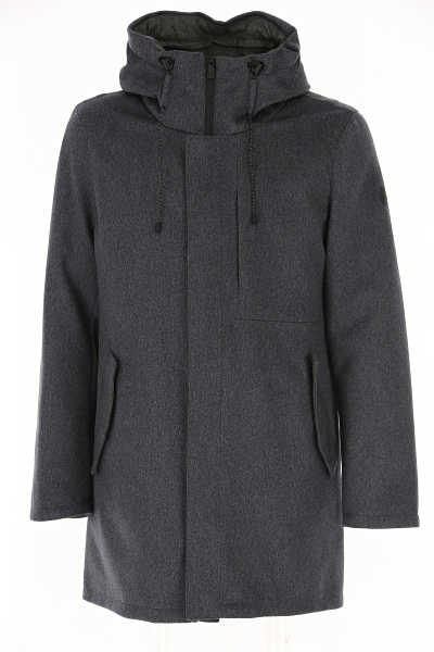 People of Shibuya Men's Coat Medium Grey SE - GOOFASH