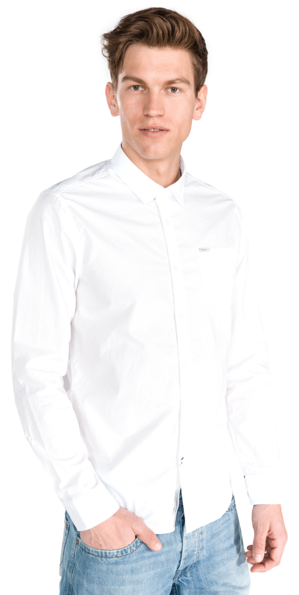 Pepe Jeans Hugh Shirt White UK - GOOFASH