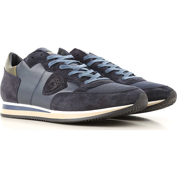 Philippe Model Sneakers for Men Blue USA - GOOFASH