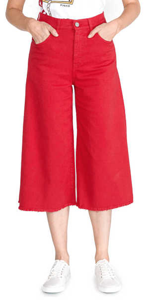 Pinko Martha 3 Trousers Red UK - GOOFASH