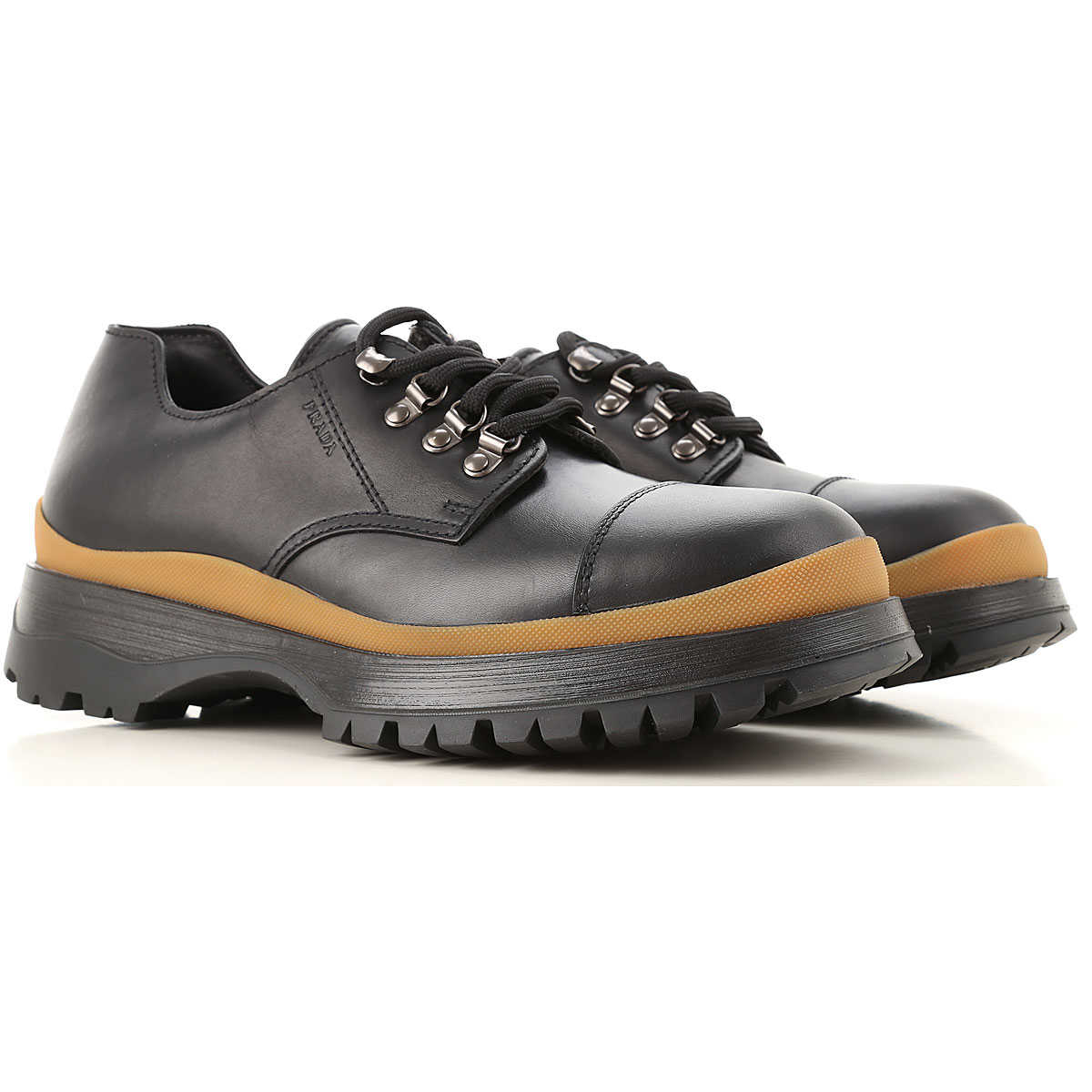 Prada Lace Up Shoes for Men Oxfords Derbies and Brogues On Sale USA - GOOFASH