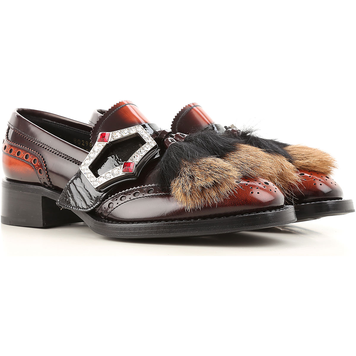 Prada Loafers for Women in Outlet tabacco USA - GOOFASH