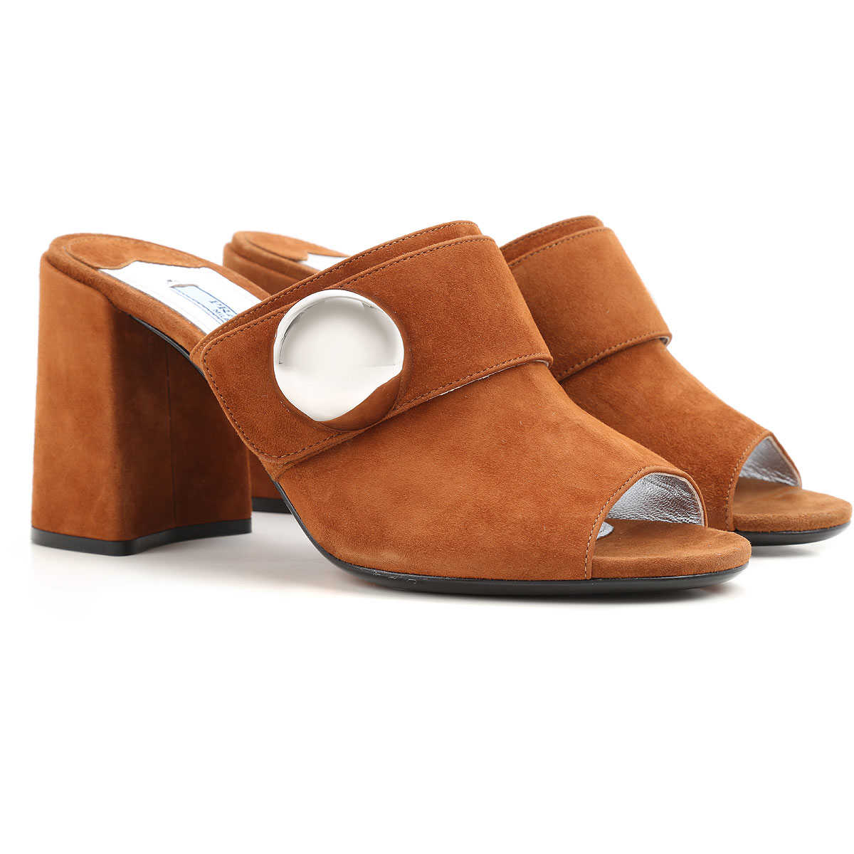 Prada Sandals for Women in Outlet Palisander USA - GOOFASH
