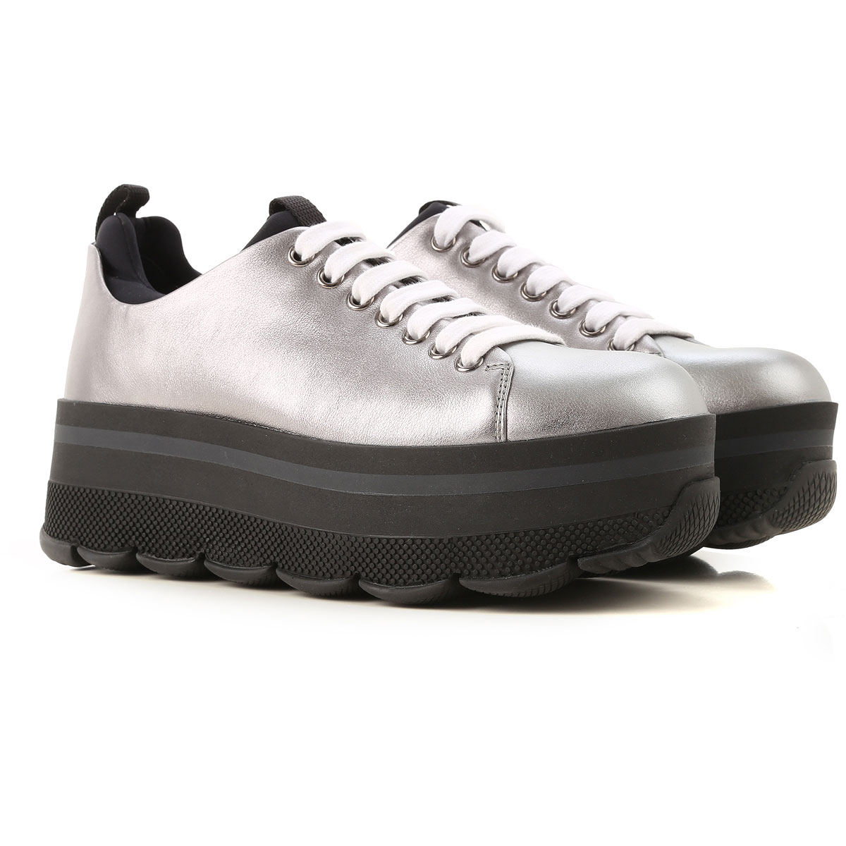 Prada Sneakers for Women in Outlet Steel USA - GOOFASH