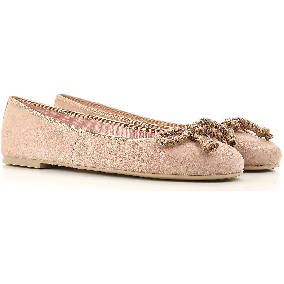 Pretty Ballerinas Ballet Flats Ballerina Shoes for Women On Sale Dark Beige SE - GOOFASH