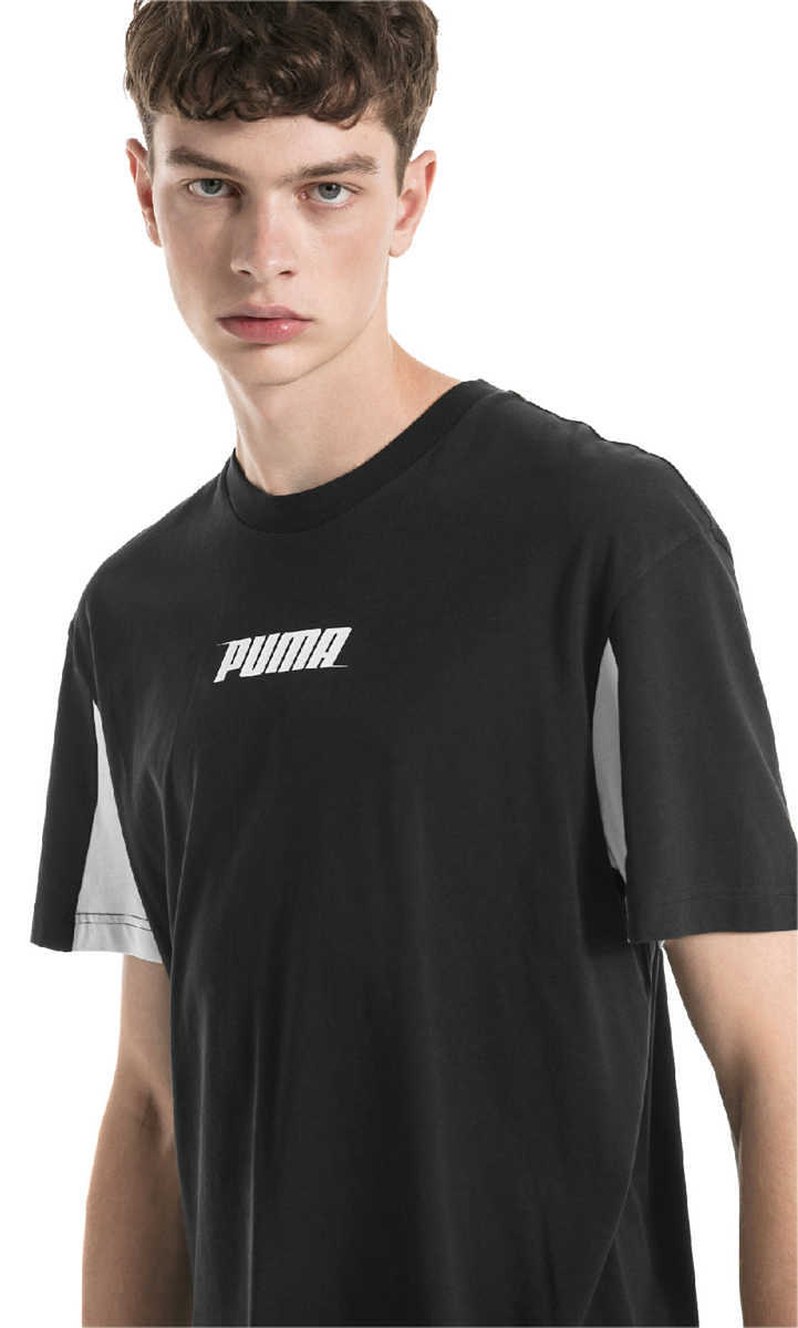 Puma Rebel T-shirt Black UK - GOOFASH