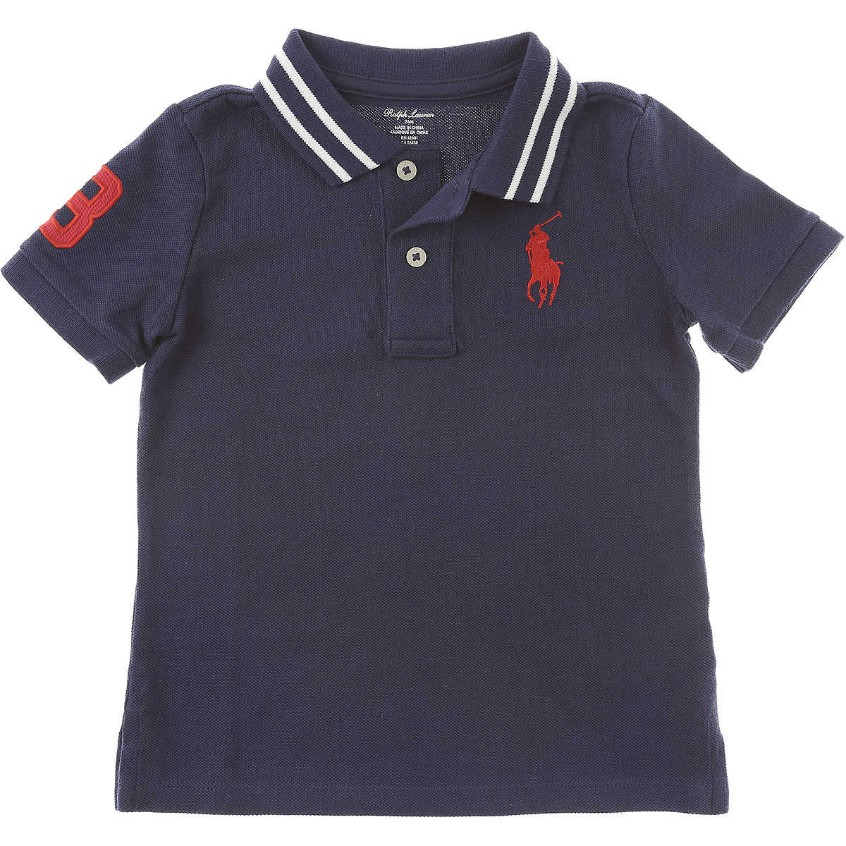 Ralph Lauren Baby Polo Shirt for Boys On Sale in Outlet Blue SE - GOOFASH