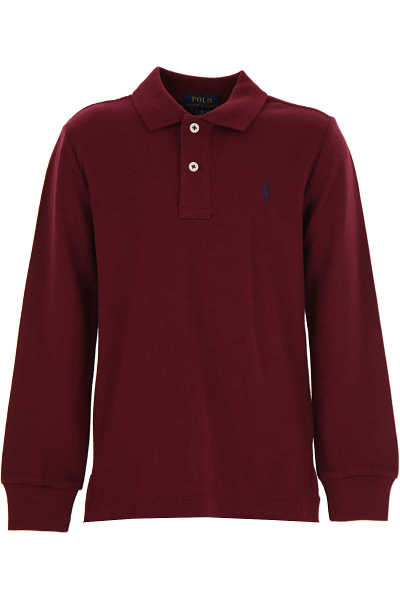Ralph Lauren Kids Polo Shirt for Boys Bordeaux USA - GOOFASH