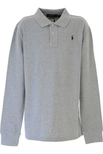 Ralph Lauren Kids Polo Shirt for Boys On Sale Grey SE - GOOFASH