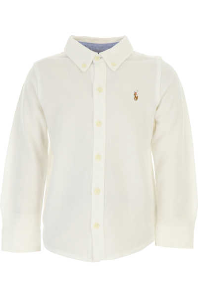 Ralph Lauren Kids Polo Shirt for Boys On Sale White SE - GOOFASH
