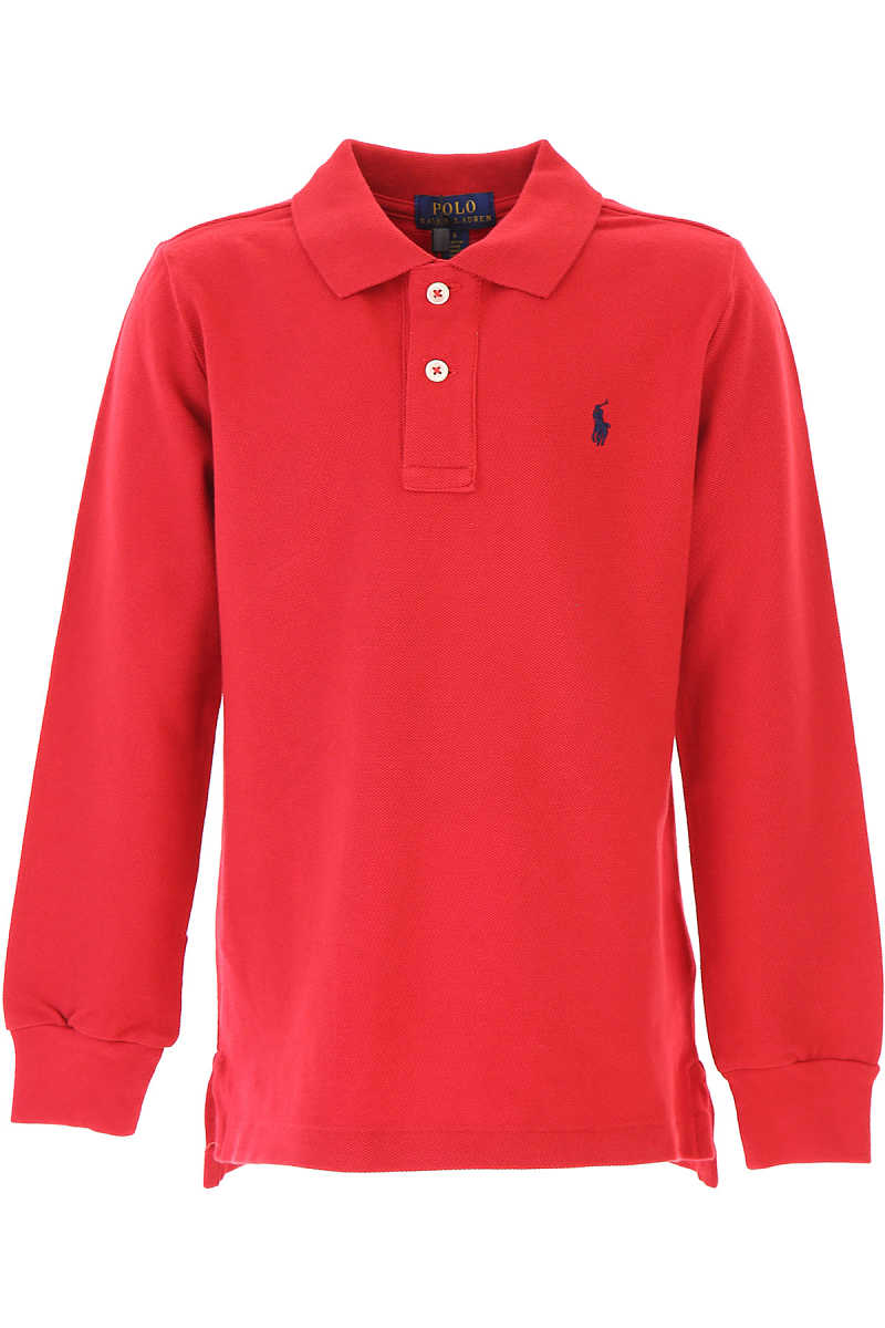 Ralph Lauren Kids Polo Shirt for Boys On Sale in Outlet Red SE - GOOFASH
