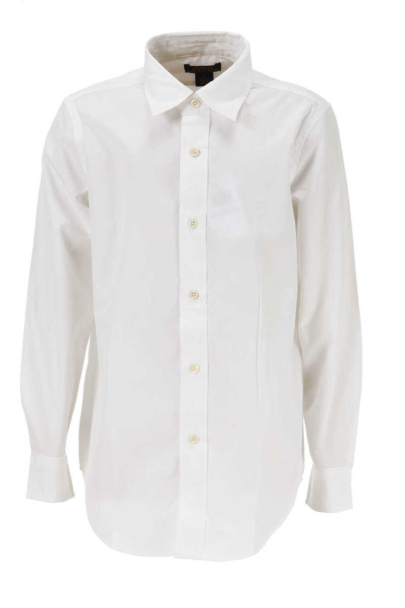 Ralph Lauren Kids Shirts for Boys in Outlet White USA - GOOFASH
