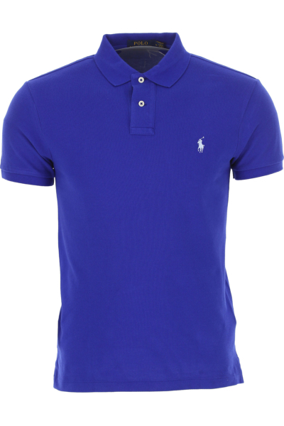 Ralph Lauren Polo Shirt for Men On Sale Electric Blue SE - GOOFASH