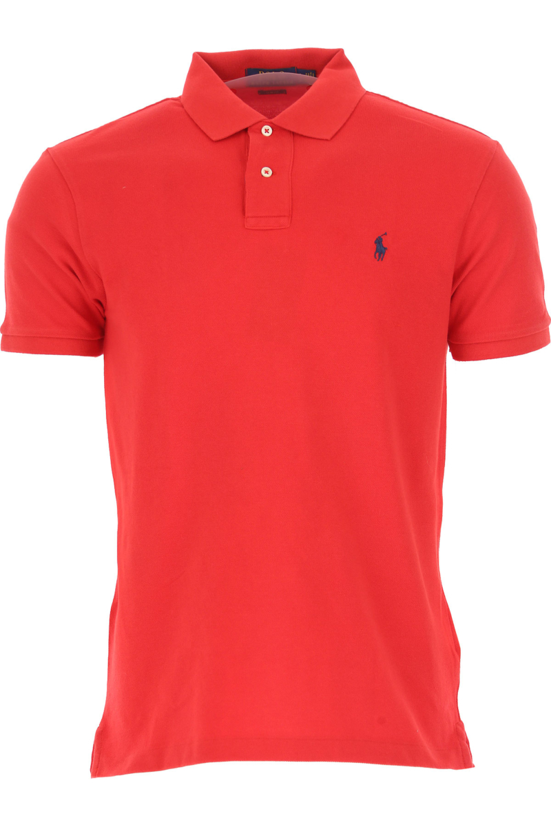 Ralph Lauren Polo Shirt for Men On Sale Red SE - GOOFASH