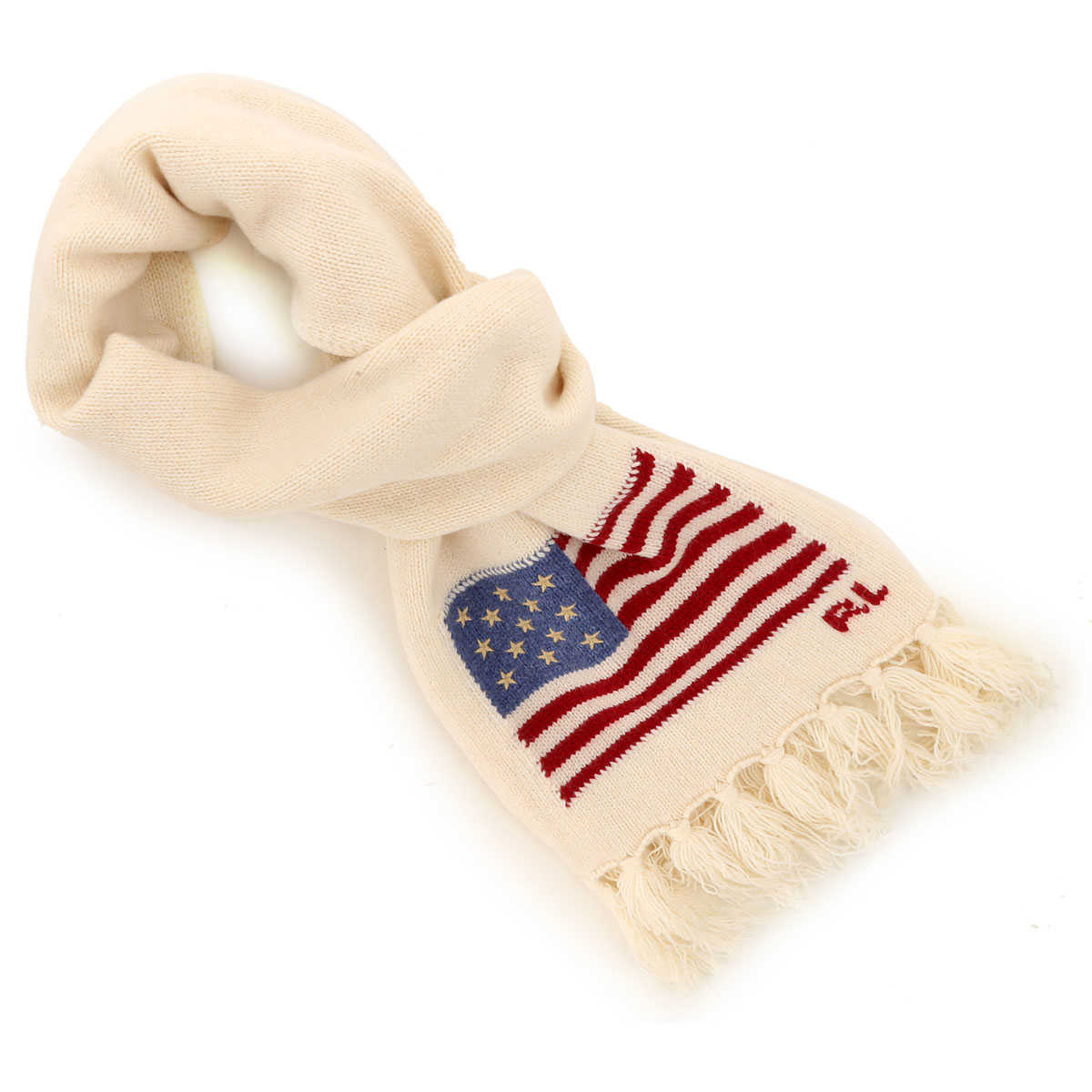 Ralph Lauren Scarf for Men Cream White USA - GOOFASH