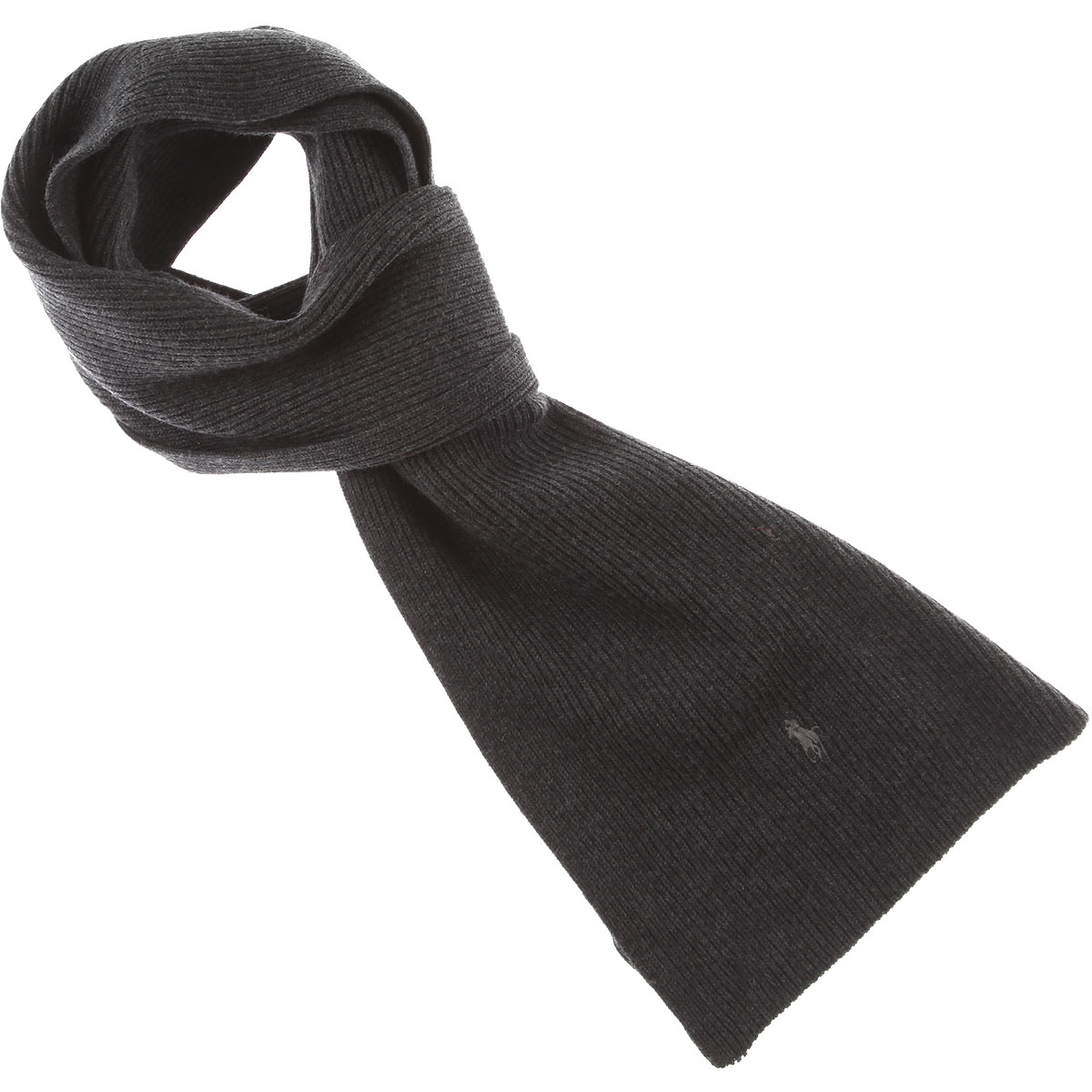 Ralph Lauren Scarf for Men On Sale Dark Grey SE - GOOFASH