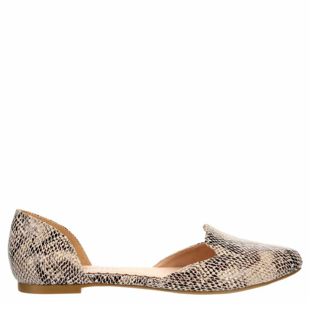 Restricted Womens Great View Flats Shoes Natural USA - GOOFASH
