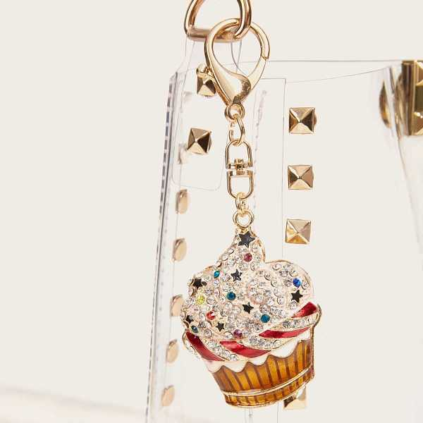 Rhinestone Engraved Ice Cream Bag Accessory in Multicolor by ROMWE on GOOFASH