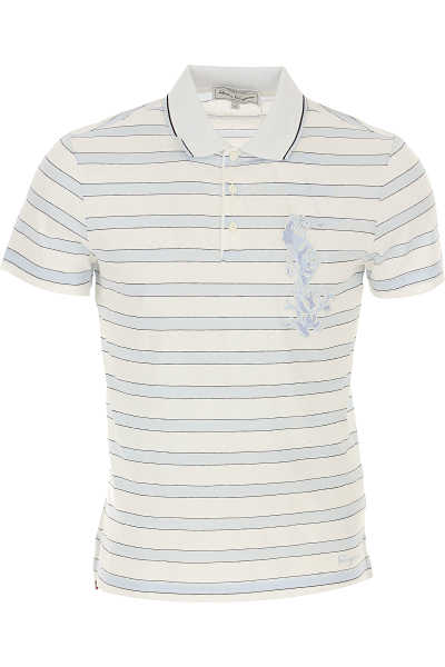 Salvatore Ferragamo Polo Shirt for Men in Outlet White USA - GOOFASH