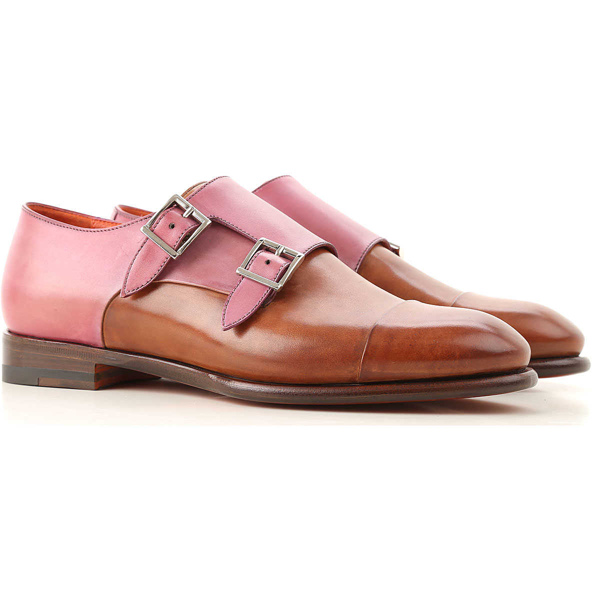 Santoni Oxford Lace up Shoes for Women in Outlet Copper Brown USA - GOOFASH