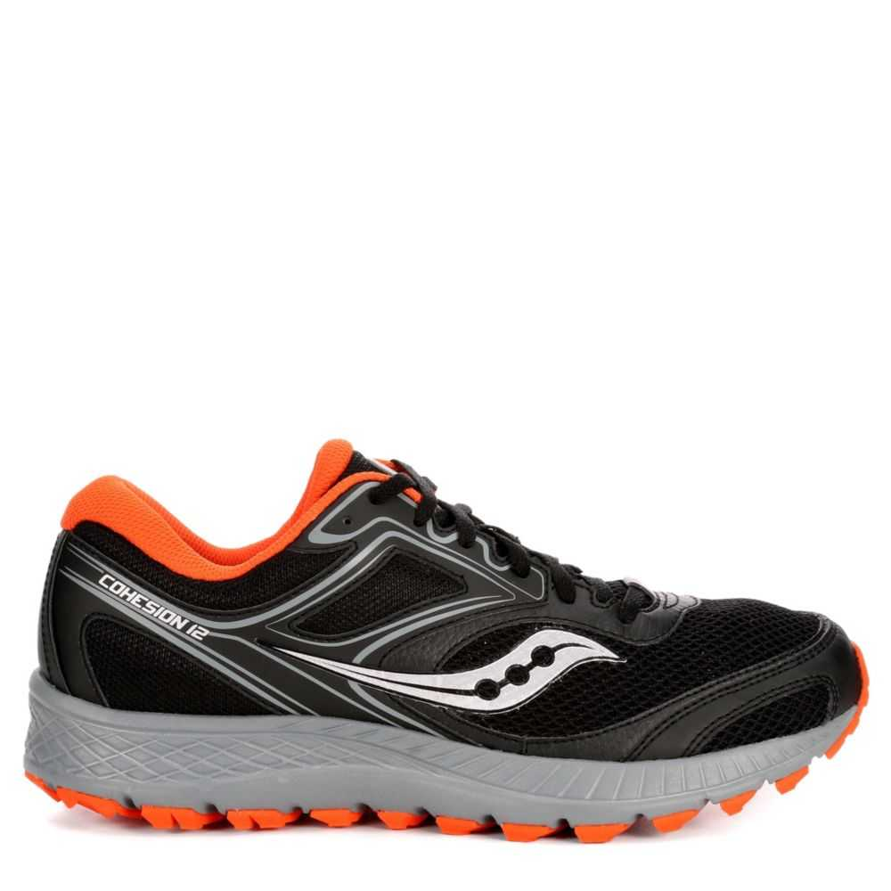 Saucony Mens Cohesion Tr 12 Running Sneakers  Black USA - GOOFASH