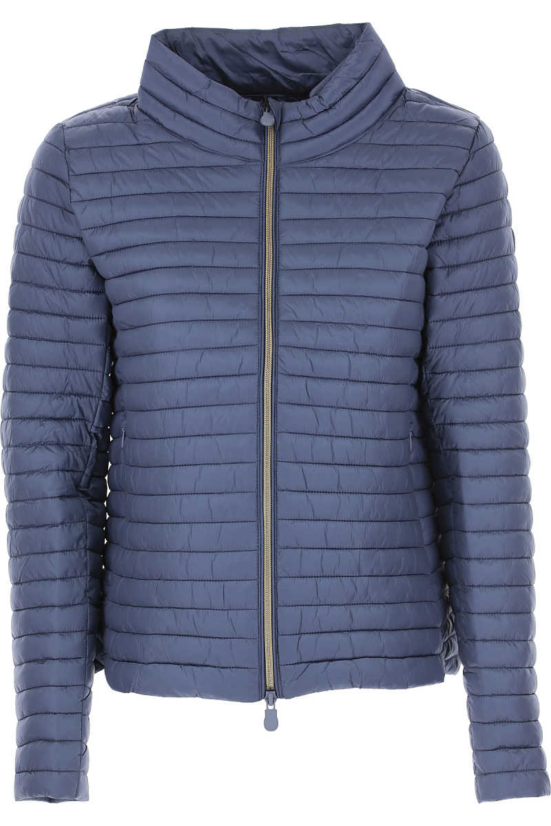 Save the Duck Jacket for Women On Sale Blue SE - GOOFASH
