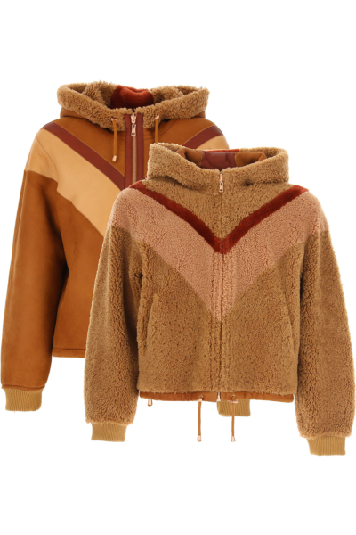 See By Chloe Jacket for Women Brown SE - GOOFASH