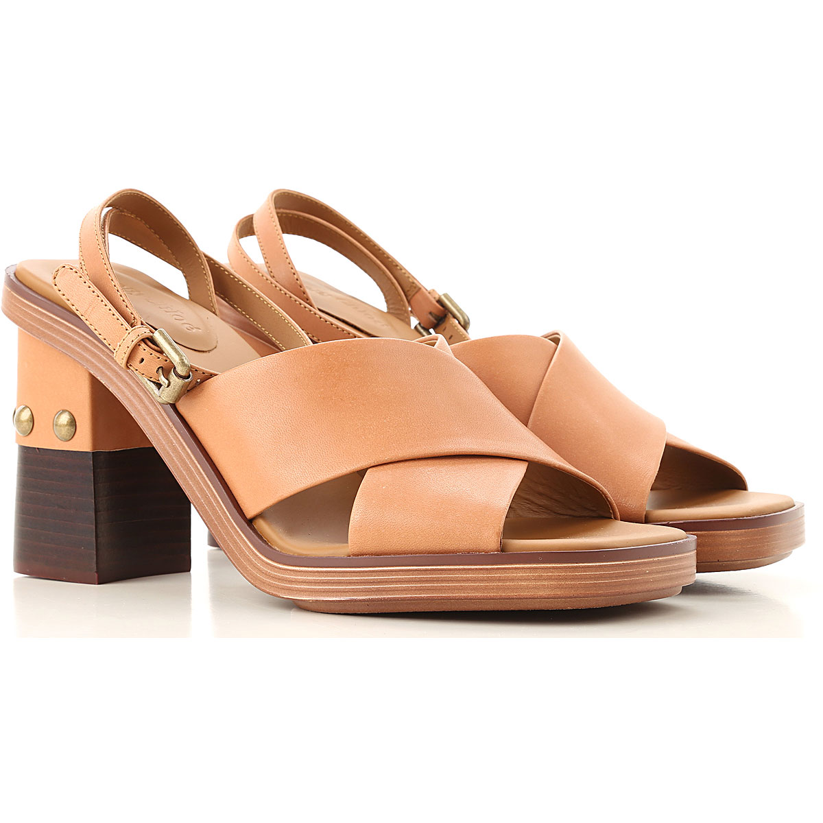 See By Chloe Sandals for Women Brown USA - GOOFASH