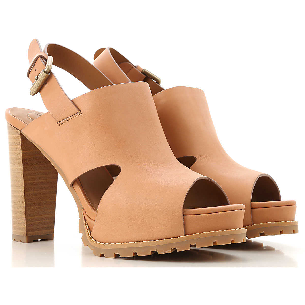 See By Chloe Sandals for Women On Sale Honey SE - GOOFASH