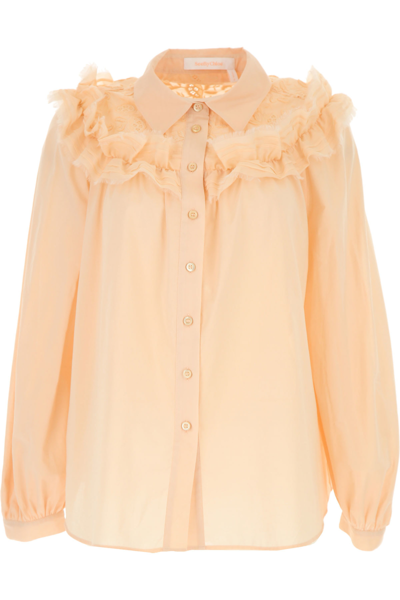 See By Chloe Shirt for Women On Sale Nude Pink SE - GOOFASH