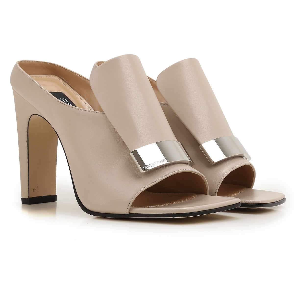 Sergio Rossi Sandals for Women in Outlet Ivory USA - GOOFASH