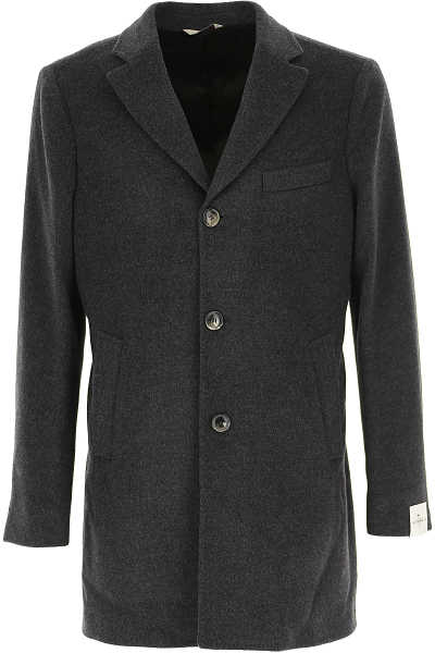 Simbols Men's Coat Dark Grey USA - GOOFASH