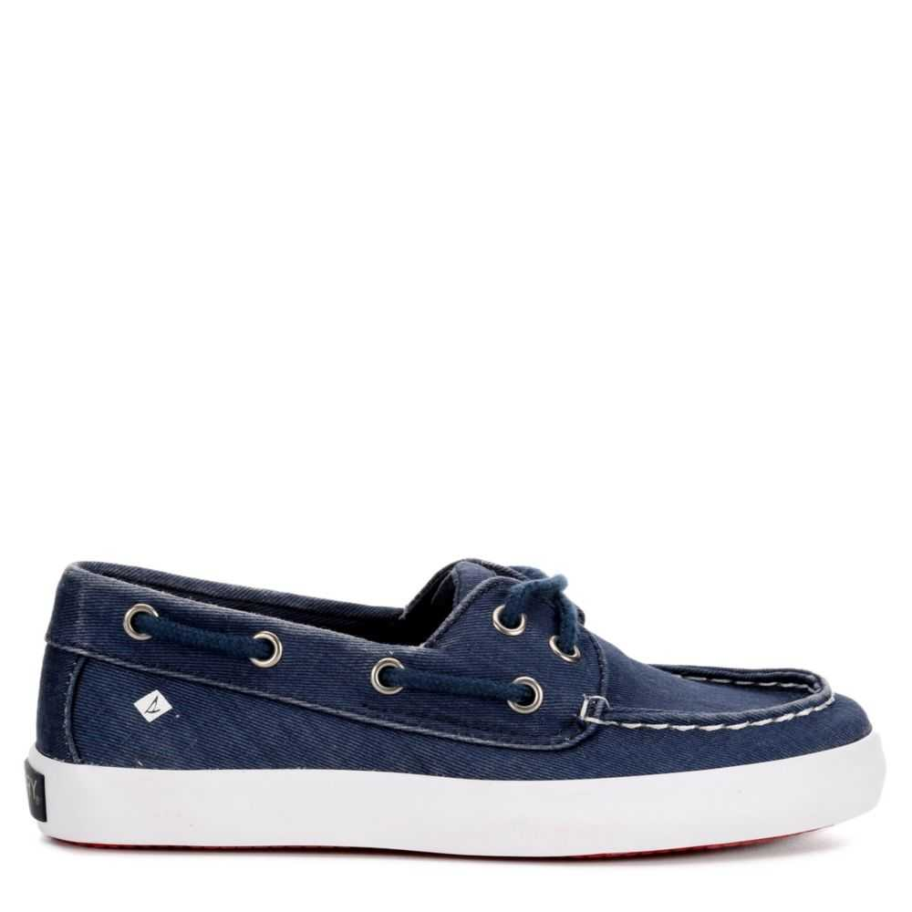 Sperry Boys Tuck Boat Shoes Navy USA - GOOFASH