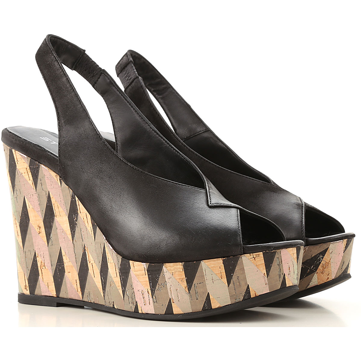 Strategia Wedges for Women On Sale Black SE - GOOFASH